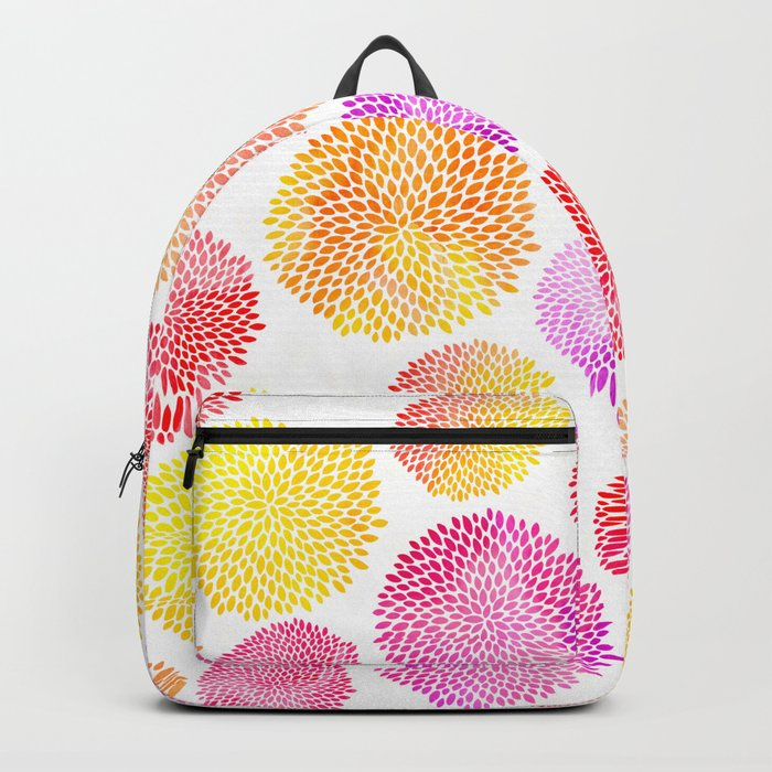 Yellow Red Purple Fireworks Backpack