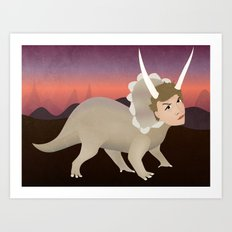 Michael Ceratops Art Print