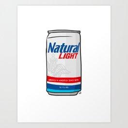 Natty Light Beer Can Art Print