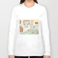 nursery Long Sleeve T-shirts featuring Nursery by Bluedogrose