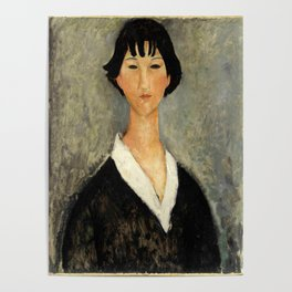 """Amedeo Modigliani """"Young Woman with Black Hair"""" Poster"""