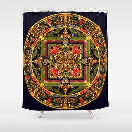 Heart Mandala Shower Curtain