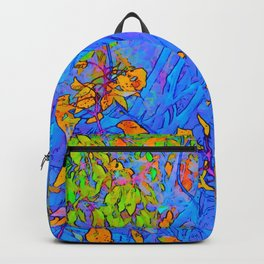 Botanica in periwinkle and gold Backpack
