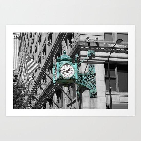 Chicago Marshall Field's Clock Photo Art Print