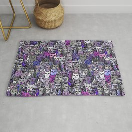 Ultraviolet Gemstone Cats Rug