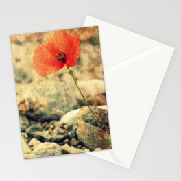 Poppy on the Rocks Stationery Cards