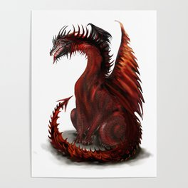 Challenger Lone Dragon Abstract Poster