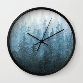 My Misty Secret Forest Wall Clock