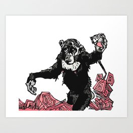 Chimp Sh*t Art Print