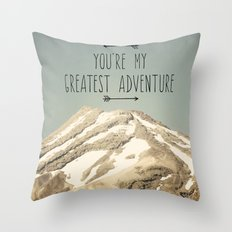 Mount Taranaki Throw Pillow