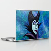 maleficent Laptop & iPad Skins featuring Maleficent by Kimberly Castello