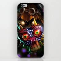 majoras mask iPhone & iPod Skins featuring Majoras Mask by Max Grecke
