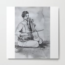 Indian Musician Metal Print
