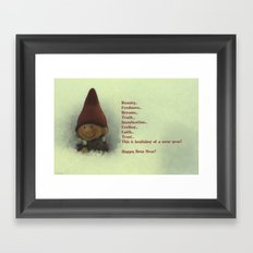 For coming New Year) Framed Art Print