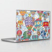hot air balloon Laptop & iPad Skins featuring Hot Air Balloon by Helene Michau