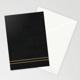 Black Velvet with Gold Lines Stationery Cards