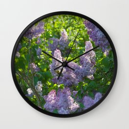 Summer lilac nature pattern Wall Clock