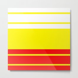 TEAM COLORS 9...Red, white and yellow Metal Print