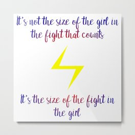fight in the girl Metal Print