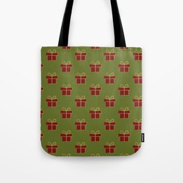 Christmas gifts - green and red Tote Bag