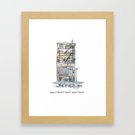 Apartment Sweet Apartment Framed Art Print