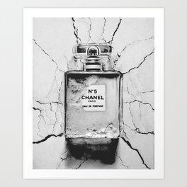 Broken perfume bottle Art Print
