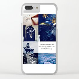 Ravenclaw Aesthetic Clear iPhone Case