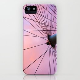 Lavender Sky and Wheel iPhone Case