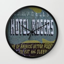 Idaho Falls - Vintage Hotel Rogers Better Place To Eat And Sleep Wall Clock
