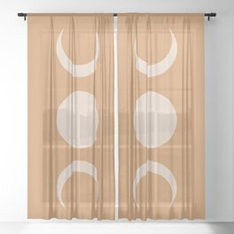 Moon Minimalism - Desert Sand Sheer Curtain