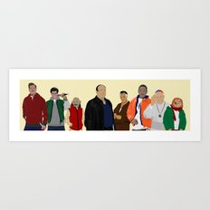 Characters - Modern outfit version Art Print