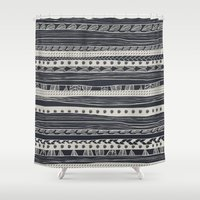 aztec Shower Curtains featuring aztec by spinL