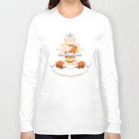 spiritual Long Sleeve T-shirts featuring Spiritual Retreat by adho1982