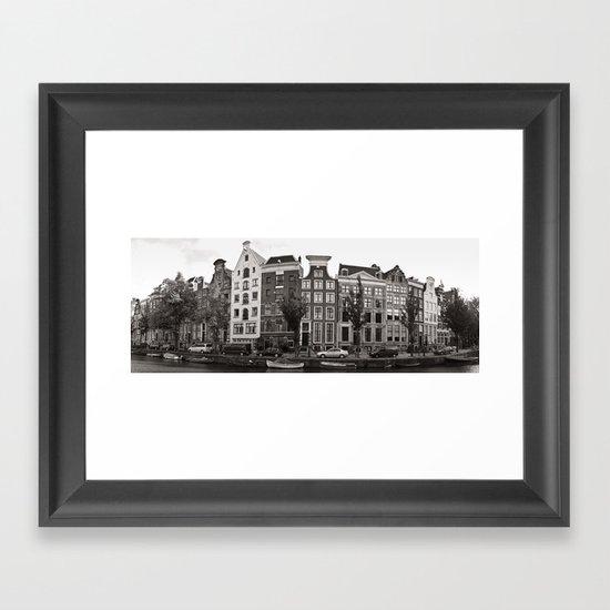 Amsterdam Panorama Framed Art Print