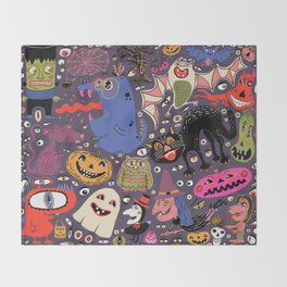 Yay for Halloween! Throw Blanket