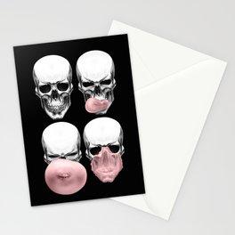 Skulls chewing bubblegum Stationery Cards