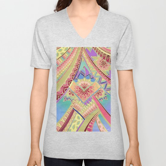 Rise and Shine - Rainbow Hued, Multi-Colored Doodle by micklyn