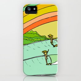 Surf Paradise Rainbow of Happiness iPhone Case