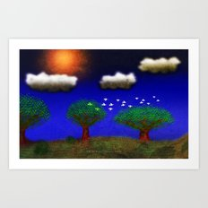 BLUE_DAY-024 Art Print