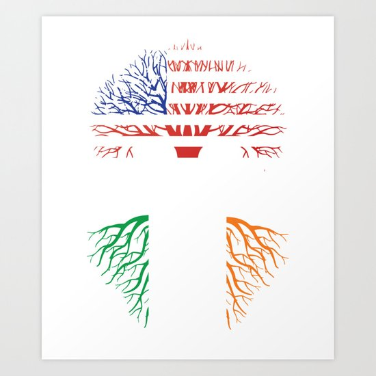 American Grown With Irish Roots Art Print By Melaninmade Society6