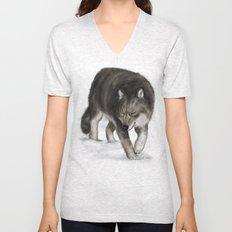 Arctic wolf Unisex V-Neck