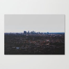 Los Angeles in fog Canvas Print