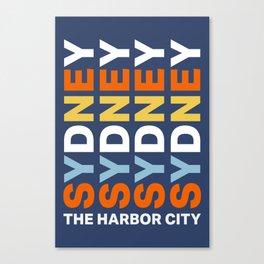 Sydney The Harbor City Canvas Print