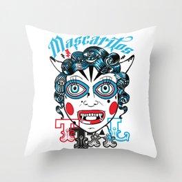 Mascaritos PERU Throw Pillow