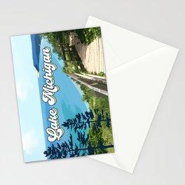 Lake Michigan Retro Stationery Cards