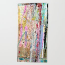 Colorful Bohemian Abstract 1 Beach Towel