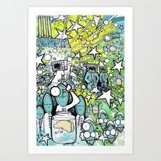 Visuals of Inexplicable Maybe, Act 3 Art Print