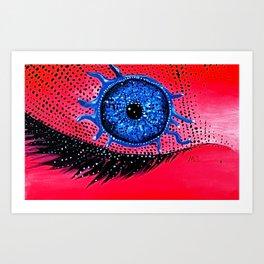 Closed Seeing Eye Art Print