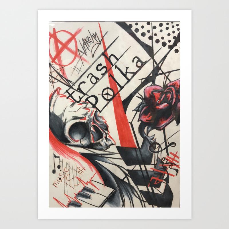 trash polka tattoo collage prints - Trash Polka Tattoo Artists Near Me