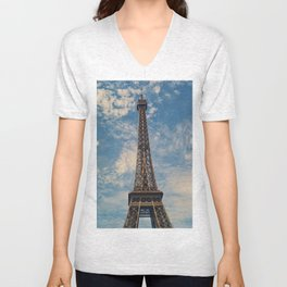 Eiffel Tower, Paris (Portrait) Unisex V-Neck
